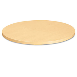 "Hon Round Table Top, 42"", Self Edge, Natural Maple"
