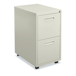"Hon 1600 Series File Pedestal File, 2 ""M"" Pull File Drawers, 20d, Putty"