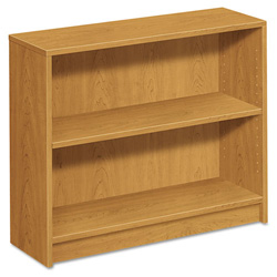 Hon 1870 Series Bookcase, Two-Shelf, 36w x 11-1/2d x 29-7/8h, Harvest