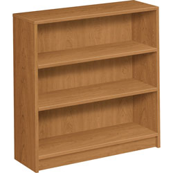 Hon 1870 Series Bookcase, Three-Shelf, 36w x 11-1/2d x 36-1/8h, Harvest