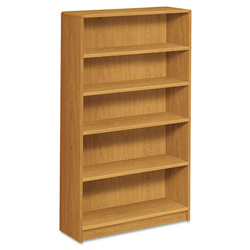 Hon 1890 Series Bookcase, Five-Shelf, 36w x 11-1/2d x 60-1/8h, Harvest