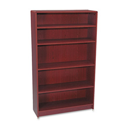 "Hon Laminate Bookcase with Radius Edge, 5 Shelf, 36""x60 1/8"", Mahogany"