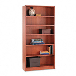"Hon Laminate Bookcase with Radius Edge, 6 Shelf, 36""x72 5/8"", Henna Cherry"