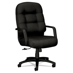 "Hon Pillow-Soft 2090 Series High Back Executive Chair, 26-1/4"" x 29-3/4x46-1/2"" Black"