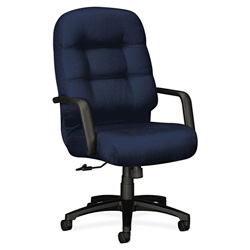 Hon 2090 Pillow-Soft Executive High-Back Swivel/Tilt Chair, Mariner, Black Base