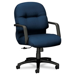 Hon 2090 Pillow-Soft Managerial Mid-Back Swivel/Tilt Chair, Mariner, Black Base