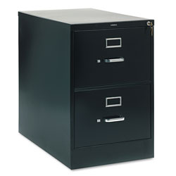"Hon 210 Series 28 1/2"" Deep Full Suspension File, Two Drawer, Legal, Black"