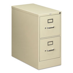 "Hon 210 Series 28 1/2"" Deep Full Suspension File, Two Drawer, Letter, Putty"