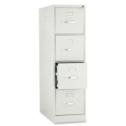 "Hon 210 Series 28 1/2"" Deep Full Suspension File, Four Drawer, Letter, Light Gray"