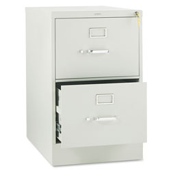 Hon 310 Series Two-Drawer, Full-Suspension File, Legal, 26-1/2d, Light Gray