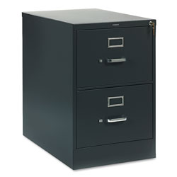 "Hon 310 Series 26 1/2"" Deep Full Suspension File, Two Drawer, Legal, Charcoal"