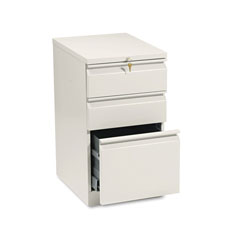 Hon Efficiencies Mobile Pedestal File, One File/Two Box Drawers, 19-7/8d, Putty
