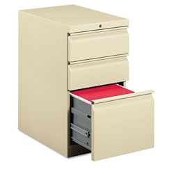 Hon Efficiencies Mobile Pedestal File, One File/Two Box Drawers, 22-7/8d, Putty