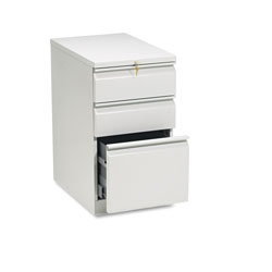 Hon Efficiencies Mobile Pedestal File, One File/Two Box Drawer, 22-7/8d, Light Gray