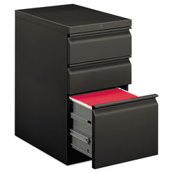 Hon Efficiencies Mobile Pedestal File, One File/Two Box Drawers, 22-7/8d, Charcoal