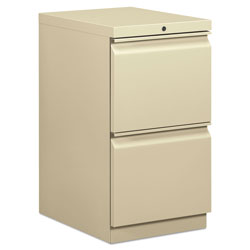 Hon Efficiencies Mobile Pedestal File, Two File Drawers, 19 7/8d, Putty
