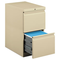 Hon Efficiencies Mobile Pedestal File, Two File Drawers, 22 7/8d, Putty