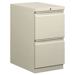 Hon Efficiencies Mobile Pedestal File, Two File Drawers, 22 7/8d, Light Gray