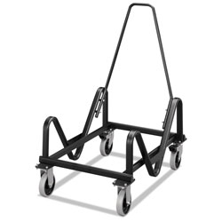 Hon GuestStacker Cart for GuestStacker Chairs, Black Finish