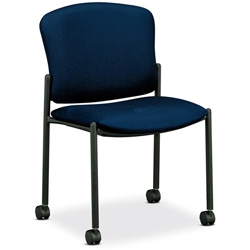 Hon 4070 Series Mobile Armless Guest Chair, Mariner