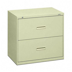 "Hon 400-Series 2 Drawer Metal Lateral File Cabinet, 30"" Wide, Beige"