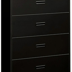 Hon 400 Series 4 Drawer Metal Lateral File Cabinet, 36x19.75x53 1/4, Black    HON484LP   ReStockIt