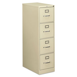 Hon 510 Series Four-Drawer, Full-Suspension File, Letter, 52h x25d, Putty