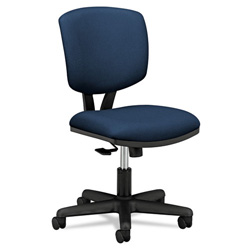 Hon Volt Series Swivel Task Chair, Stain Resistant Navy Blue Polyester