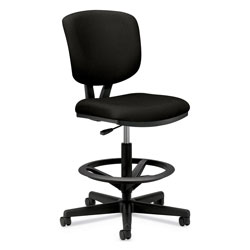 Hon Volt Series Adjustable Task Stool, 27w x 29-1/2d x 49-7/8h, Black Fabric