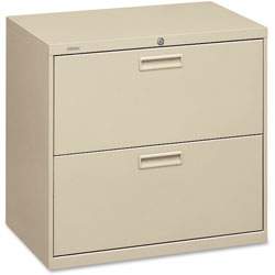 "Hon 500-Series 2 Drawer Metal Lateral File Cabinet, 30"" Wide, Beige"