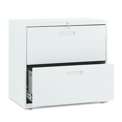 "Hon 500-Series 2 Drawer Metal Lateral File Cabinet, 30"" Wide, Gray"