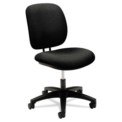 Hon ComforTask Series Swivel Task Chair, Stain Resistant Black Fabric