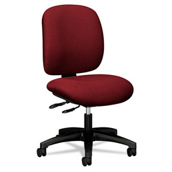 Hon ComforTask Series Swivel Task Chair, Stain Resistant Burgundy Fabric