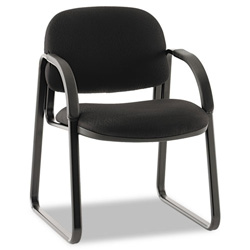 Hon Sensible Seating Guest Arm Chair, Tectonic Fabric, Black