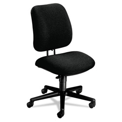 Hon 7700 Series Swivel Task Chair, Stain Resistant Black Fabric