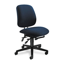 Hon 7700 Series Swivel Task Chair, Stain Resistant Blue Fabric