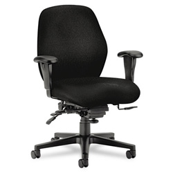 Hon 7800 Series Mid Back Swivel Task Chair, Black