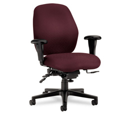 Hon 7800 Series Mid Back Swivel Task Chair, Dark Red