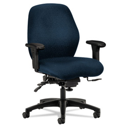 Hon 7800 Series Mid Back Swivel Task Chair, Dark Blue