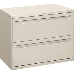 "Hon 700-Series 2 Drawer Metal Lateral File Cabinet, 36"" Wide, Gray"