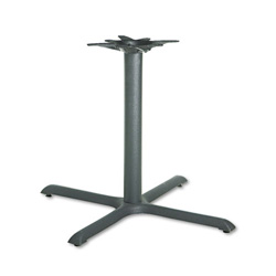 "Hon Single Column Cast Iron X Pedestal Base for 36""/42"" Round Table Top, Black"