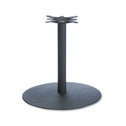 Hon Comfort Edge Round Single Pedestal Table, Round Base Component, Black