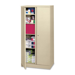 "Hon Easy to Assemble Storage Cabinet, 72""-High, 36"" x 18"", Putty"