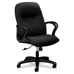 Hon Gamut Series Managerial Mid-Back Swivel/Tilt Chair, Black