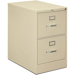 "Hon H320 Series 26 1/2"" Deep Full Suspension File, Two Drawer, Legal, Putty"
