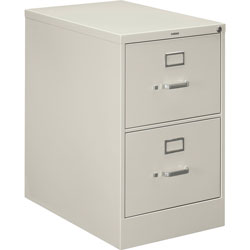 "Hon H320 Series 26 1/2"" Deep Full Suspension File, Two Drawer, Legal, Light Gray"