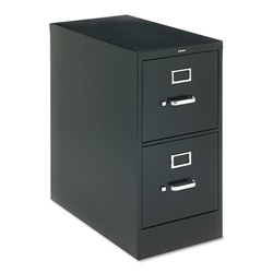 "Hon H320 Series 26 1/2"" Deep Full Suspension File, Two Drawer, Letter, Black"