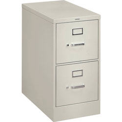 "Hon H320 Series 26 1/2"" Deep Full Suspension File, Two Drawer, Letter, Light Gray"
