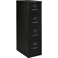 "Hon H320 Series 26 1/2"" Deep Full Suspension File, Four Drawer, Letter, Black"