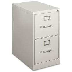 Hon H410 Series Two-Drawer Locking Vertical File, 15w x 22d x 26-1/16h, Light Gray